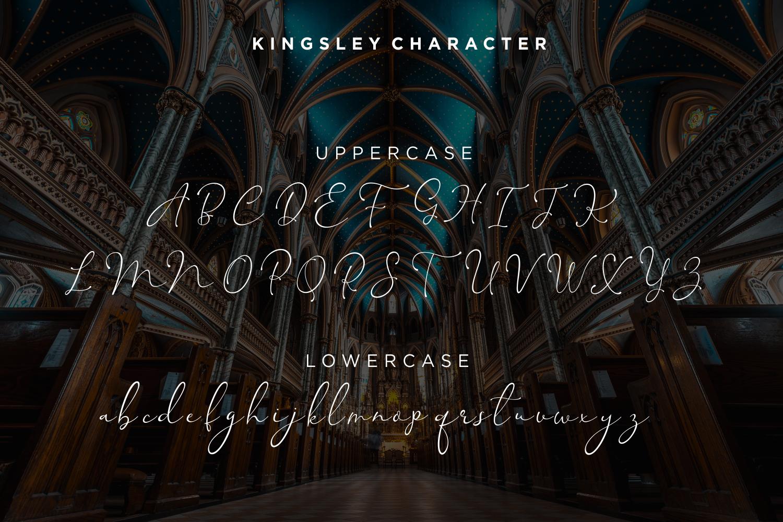 Kingsley - Modern Script Font example image 9