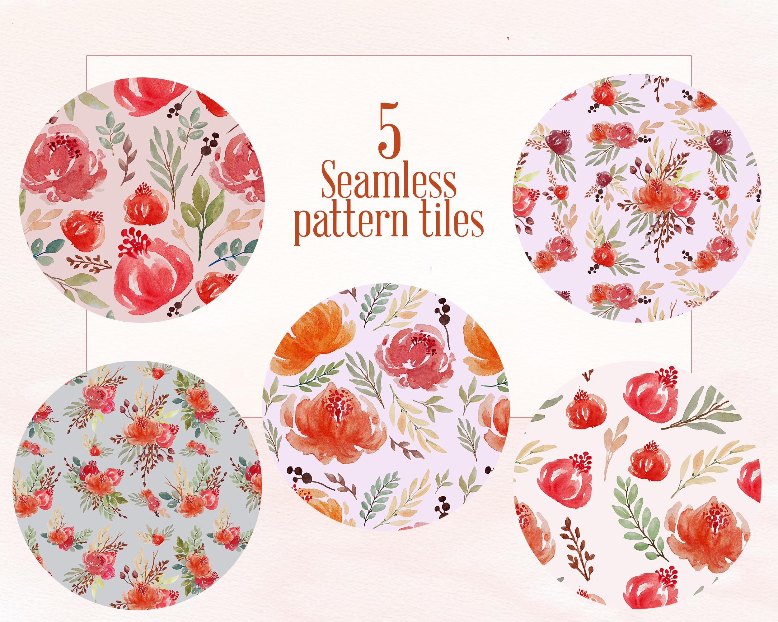 Juliet Floral Watercolor Clip Art Set example image 2