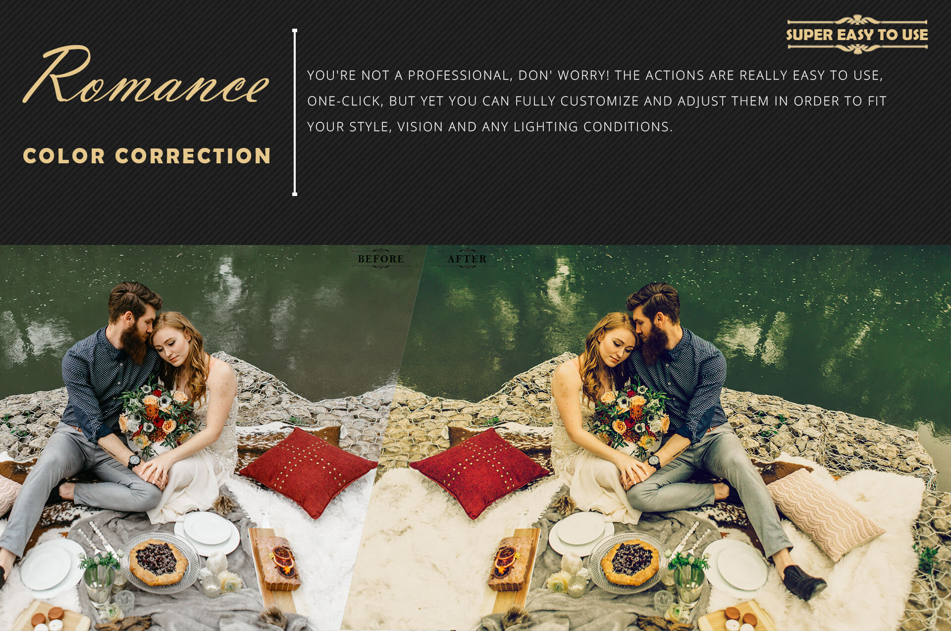 Romance Cinematic Color Grading Photoshop action Filter example image 5