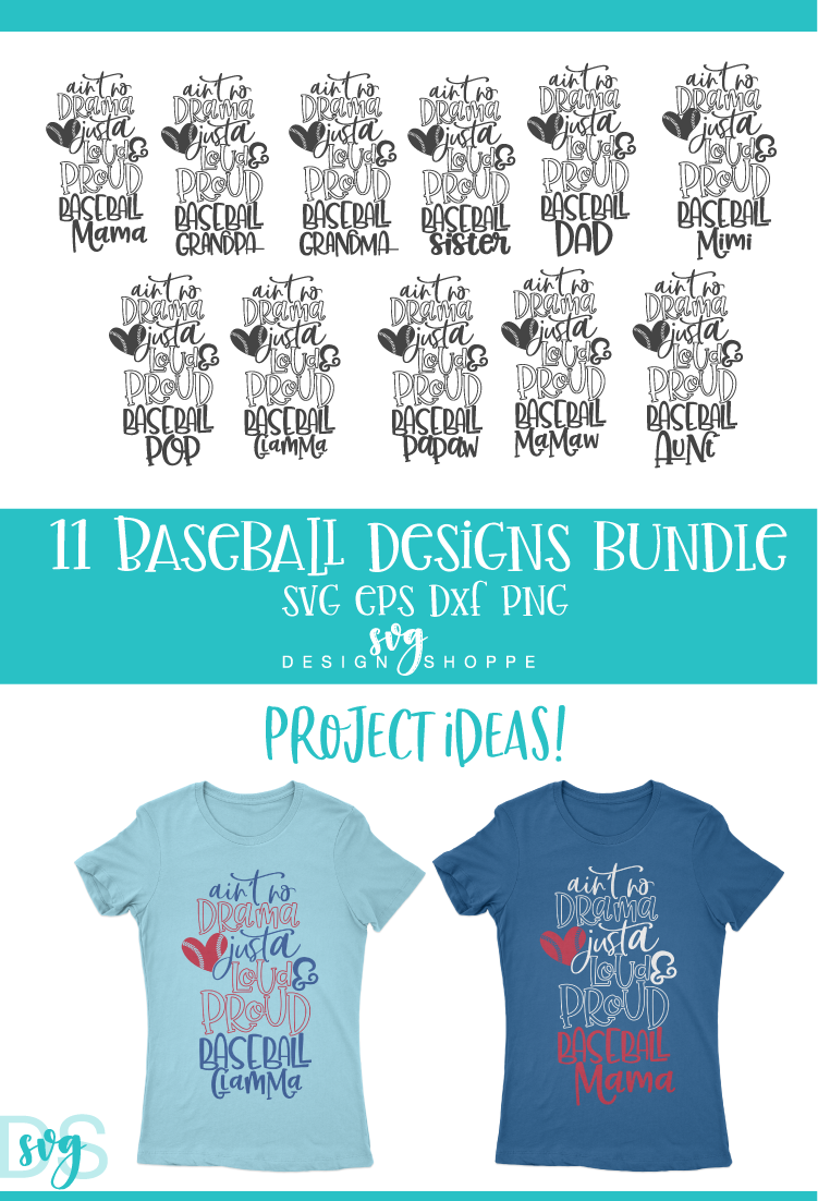 Baseball, Mom, Wife, Grandma, Grandpa, SVG, PNG, DXF, EPS example image 2