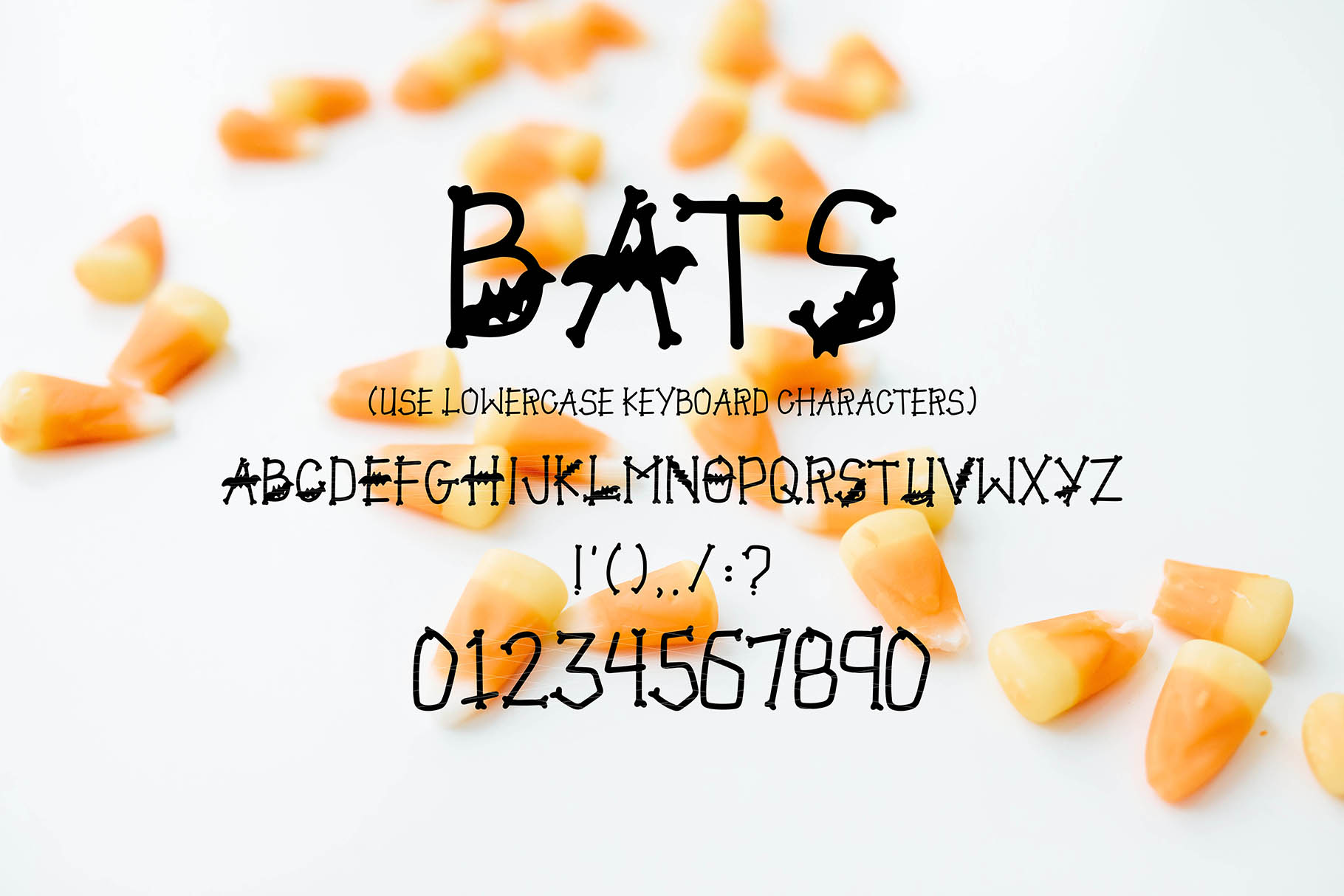 JACK MYERS a Halloween Font Family example image 3
