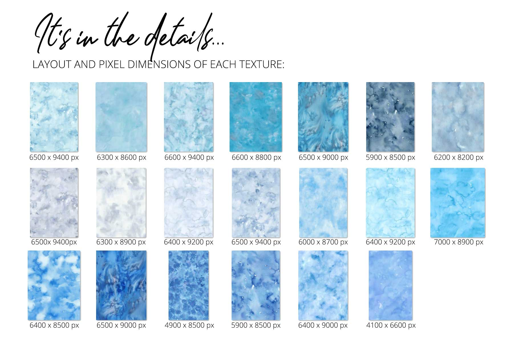 20 Huge Seamless Blue Watercolor Textures example image 3