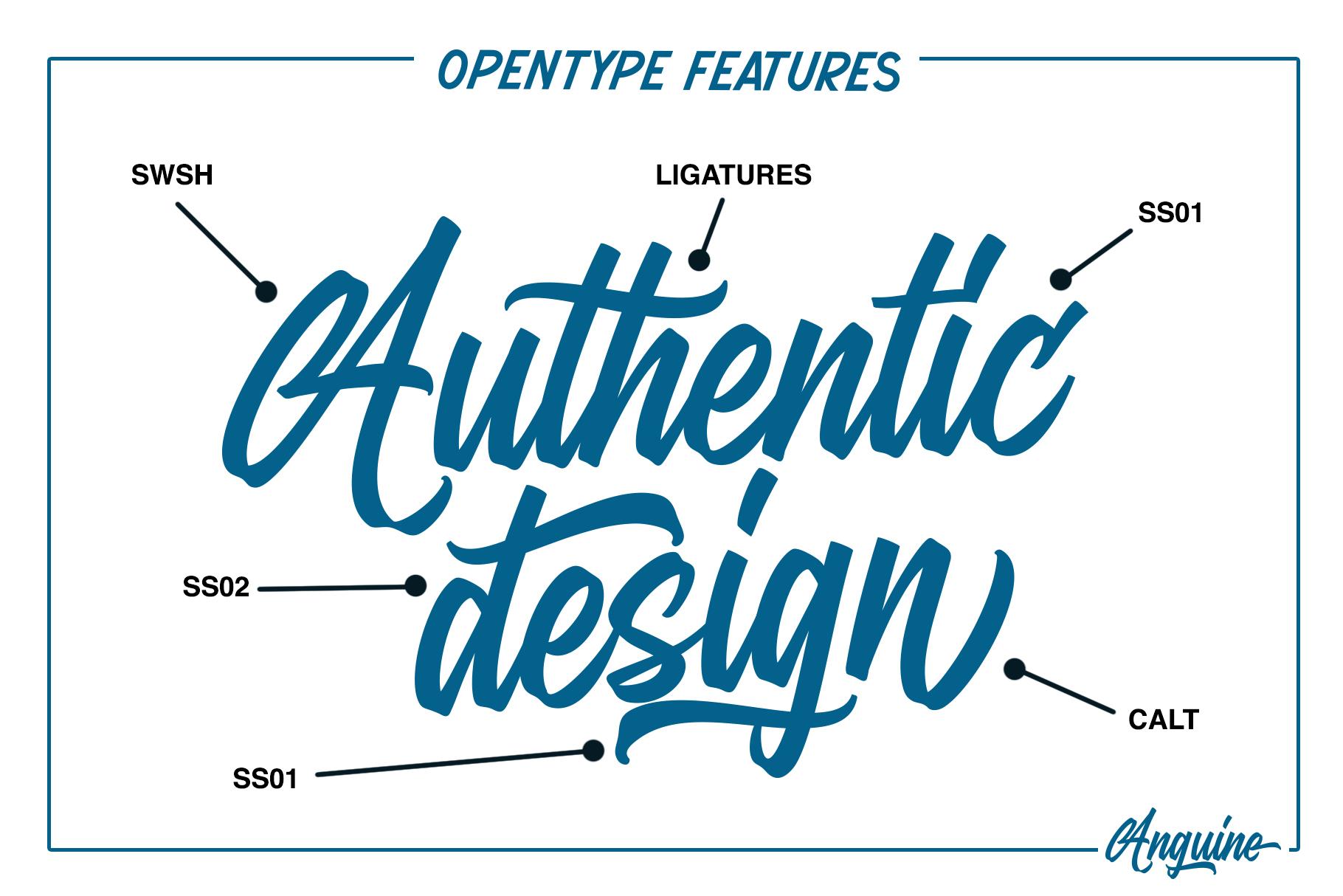Anguine - Stylish Typeface example image 4