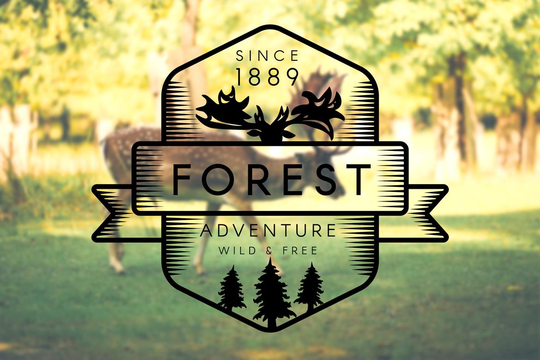 Vintage Forest Moose Badge example image 2