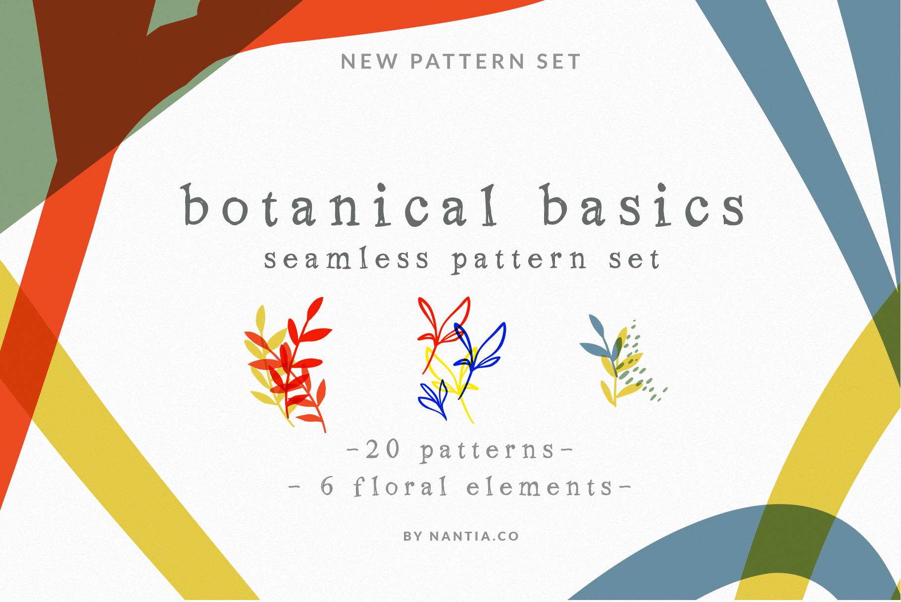 Botanical Basics Pattern Set example image 11