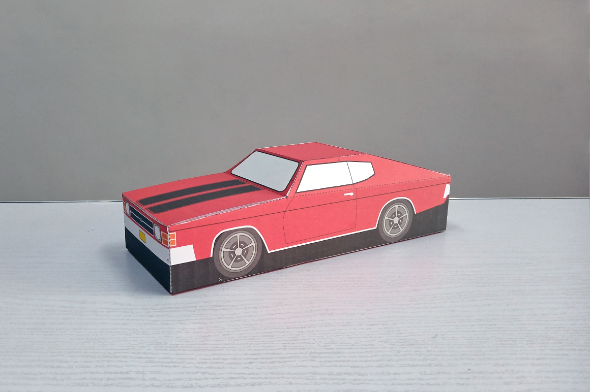DIY Chevelle Car favor - 3d papercraft example image 3