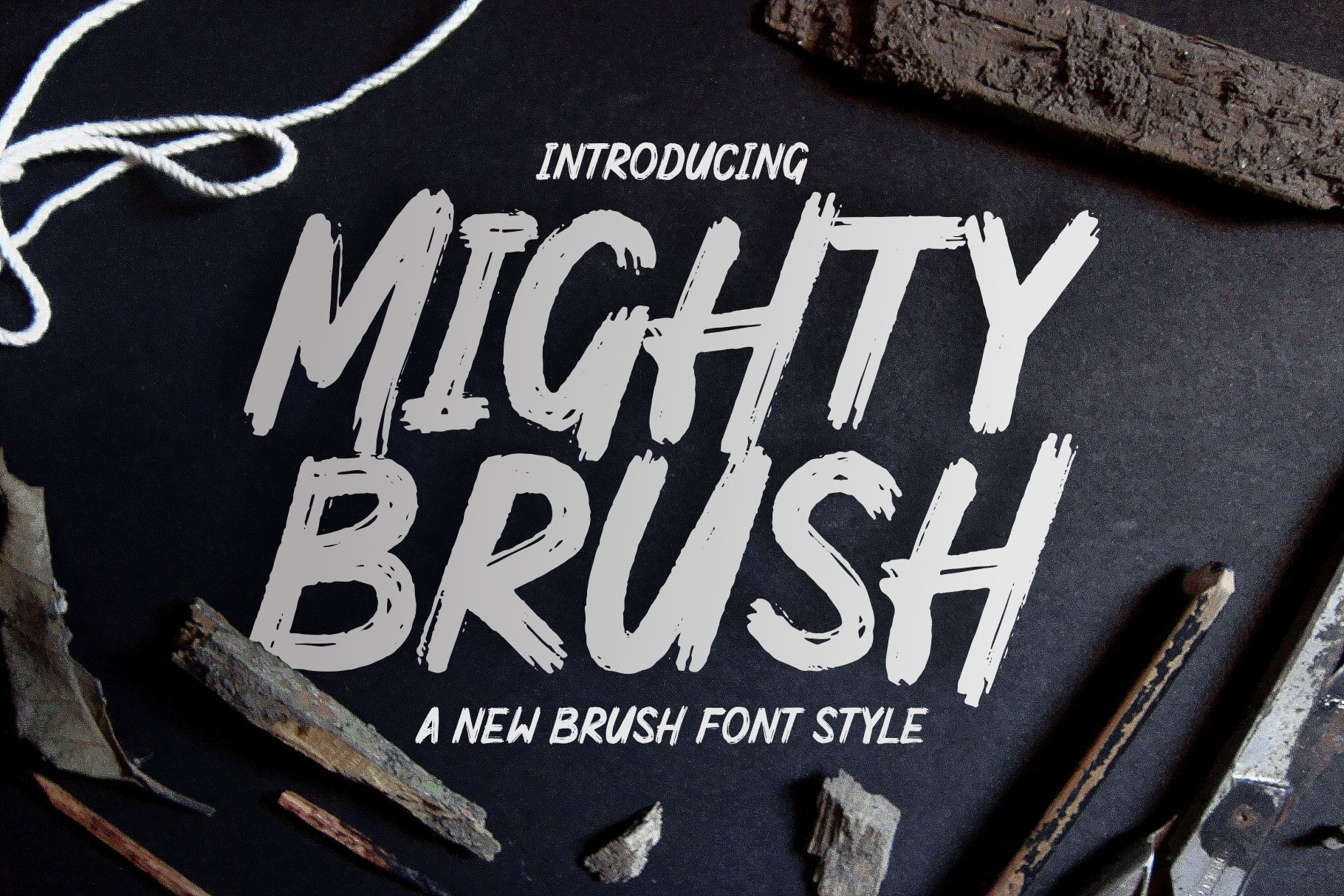 Download Mighty Brush Font (231516) | Display | Font Bundles