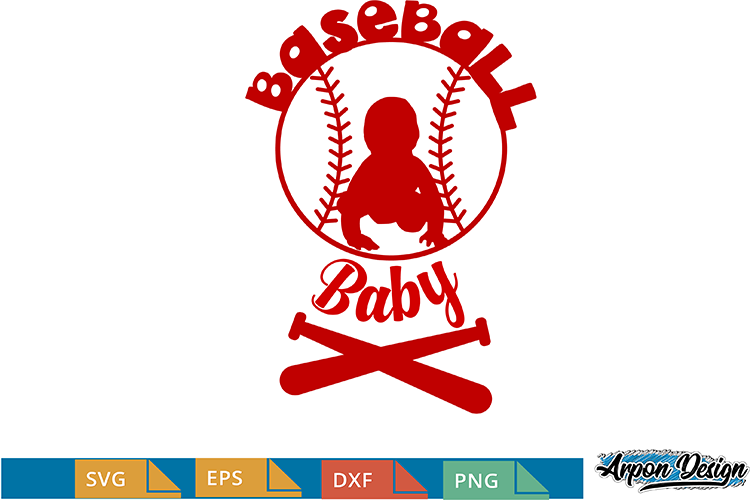 little baseball baby, png,dxf, eps, Maternity funny shirt, example image 1
