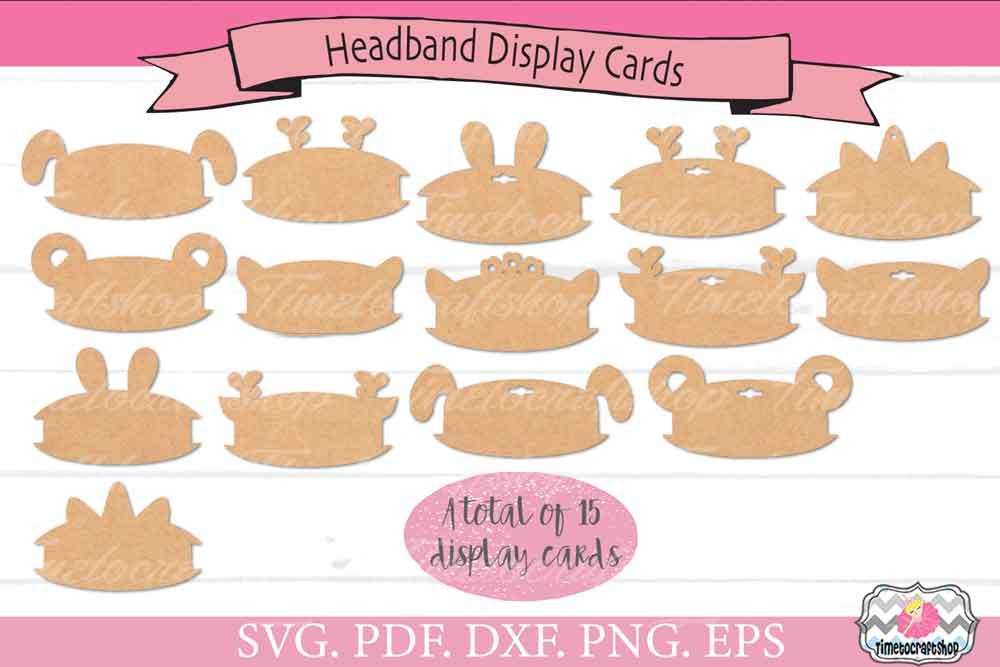 Animal Ears Headband Display Card Bundle example image 1