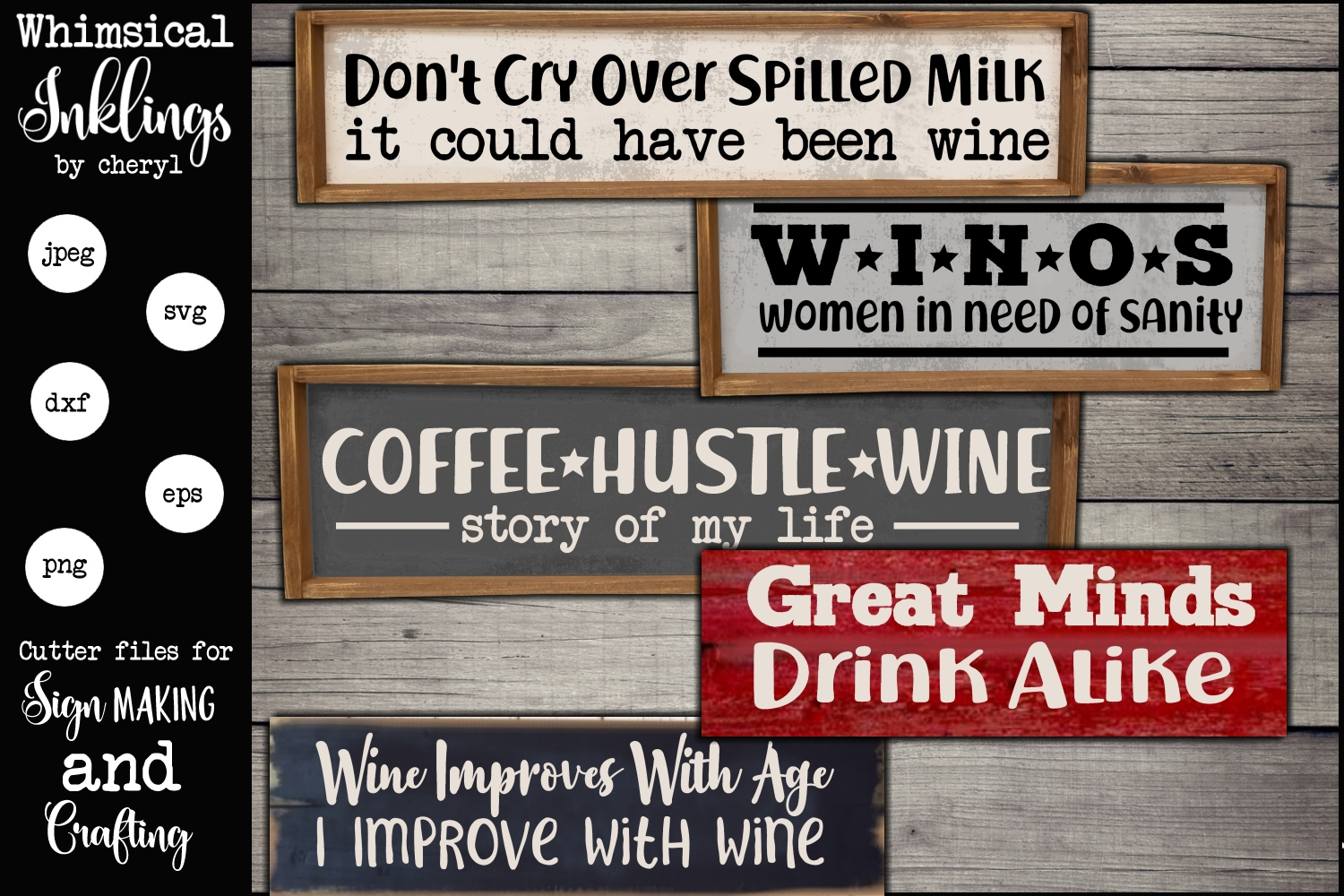 Wine Improves With Age SVG Set example image 1