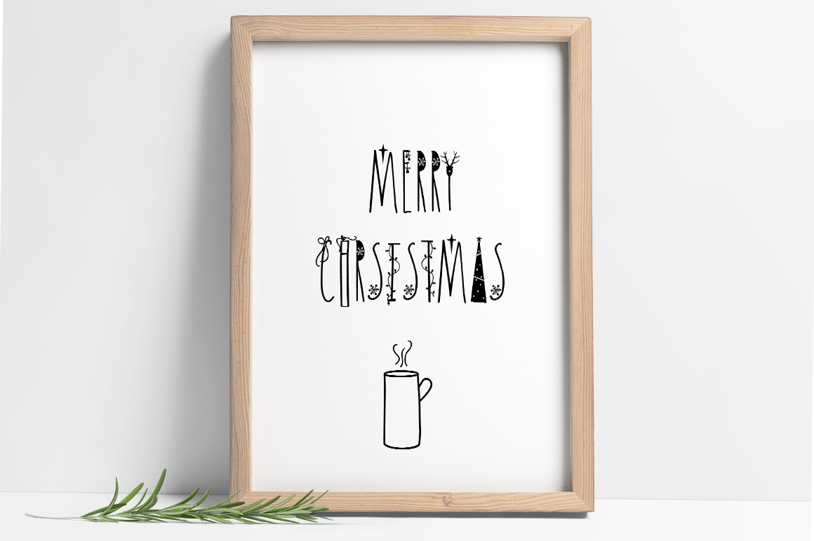 JINGLE FONT - a Christmas Typeface with Bonus DOODLES example image 8