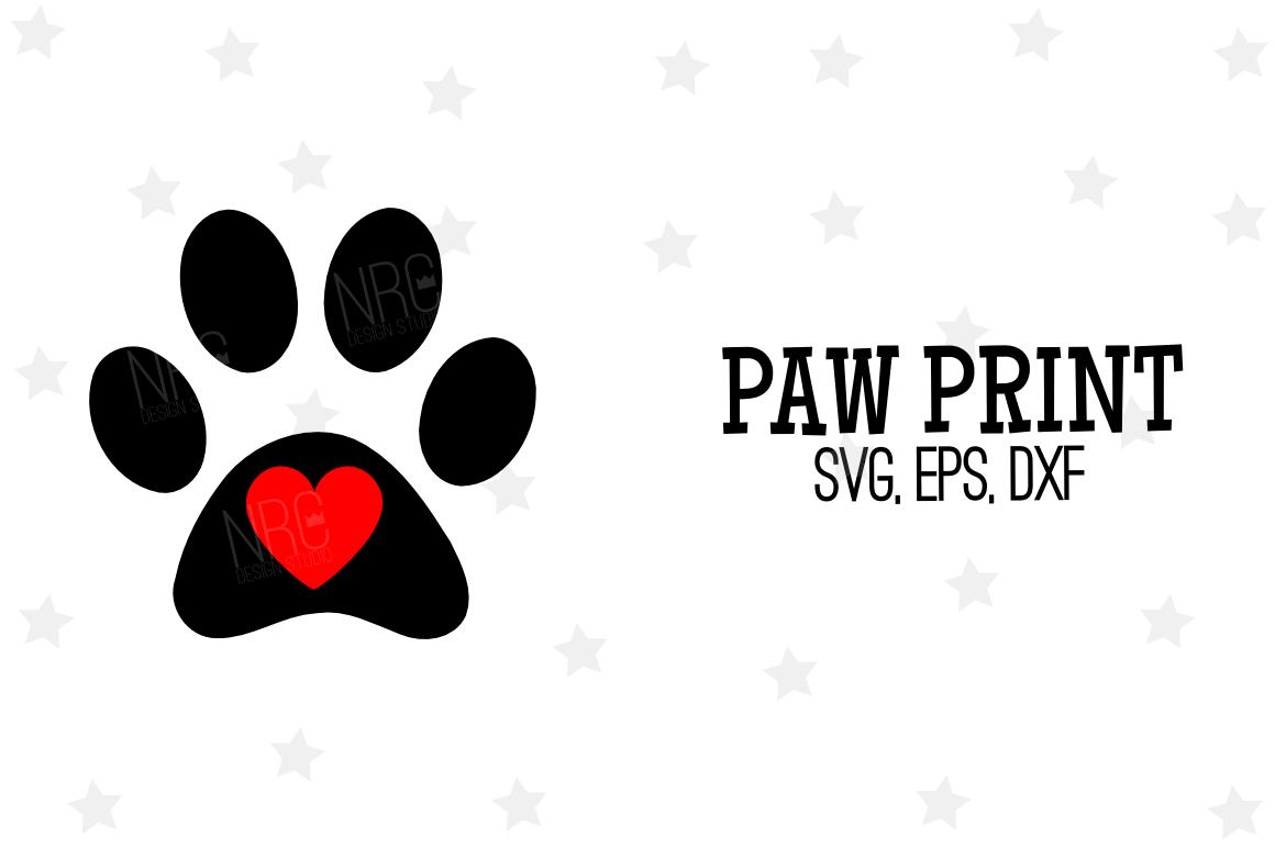 Paw Print SVG File example image 1