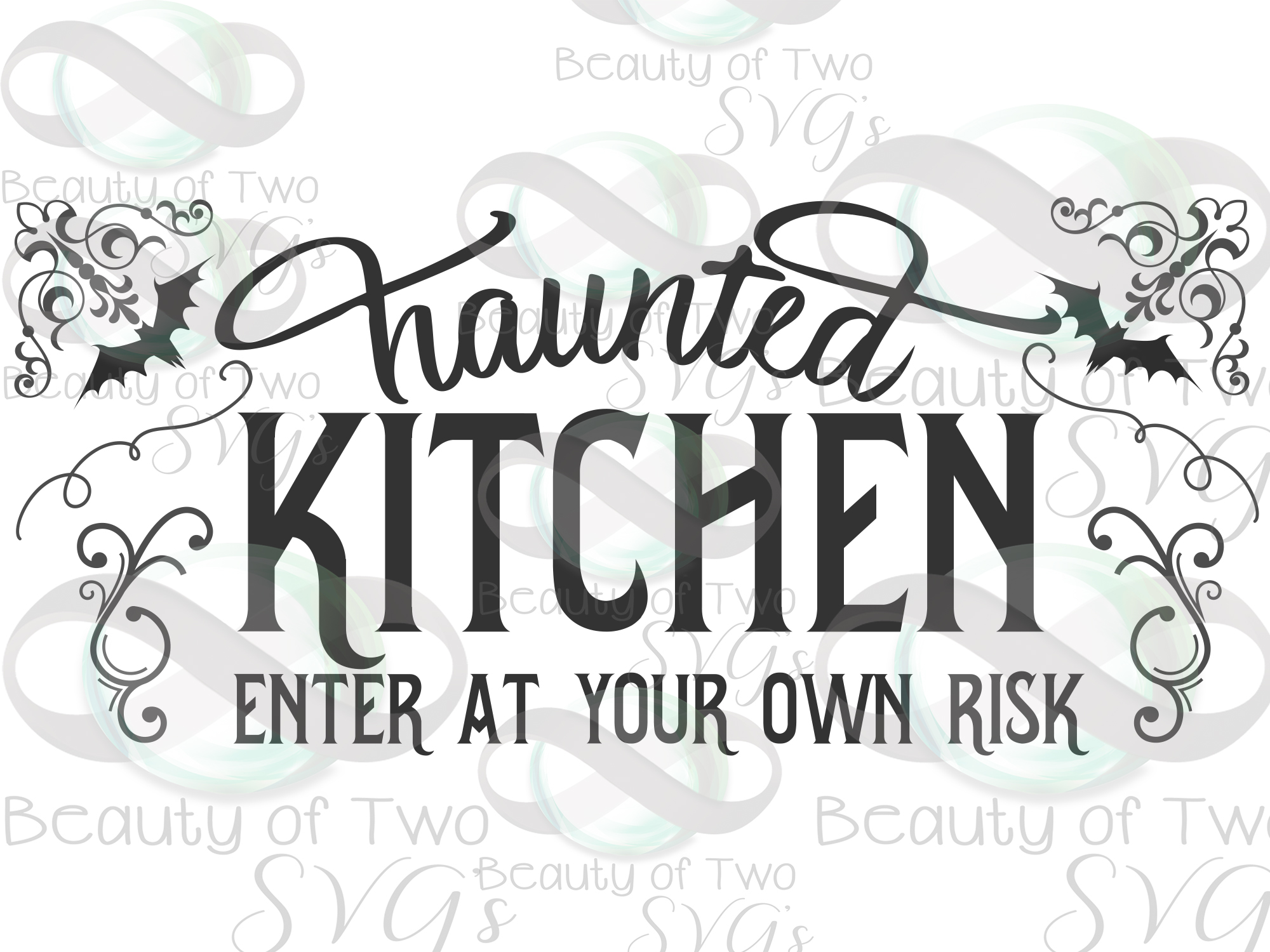 Halloween svg sign design, Haunted kitchen svg, kitchen svg example image 3