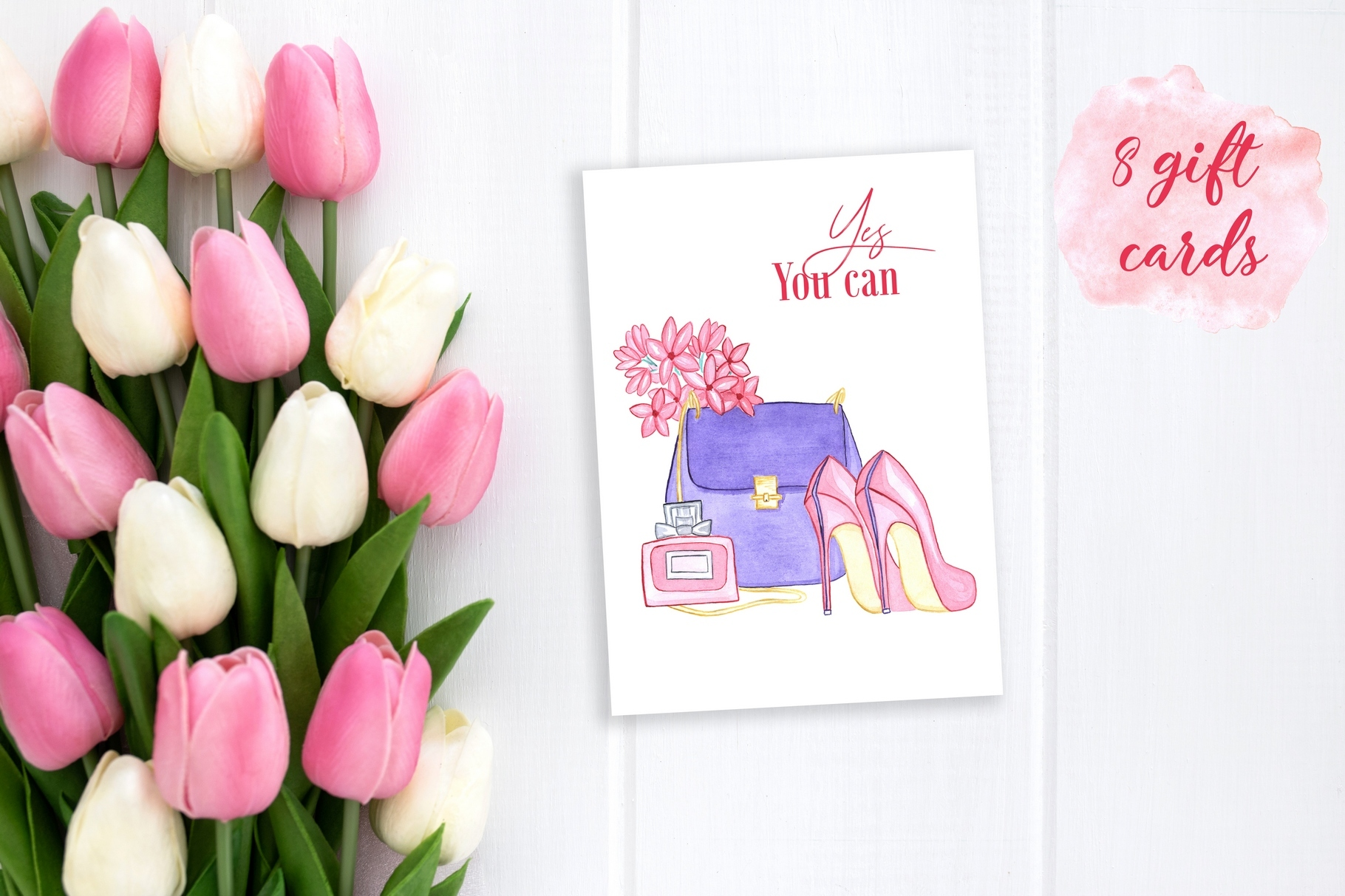 Women's day Card. 8 March example image 6