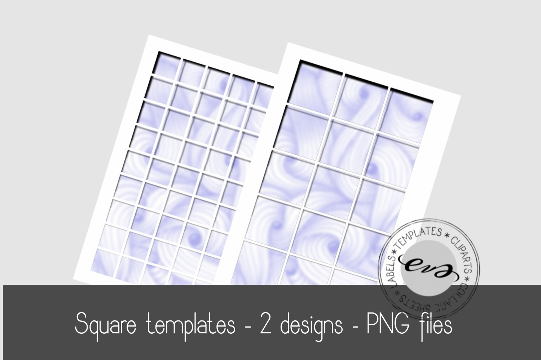 Digital square sheet templates example image 1