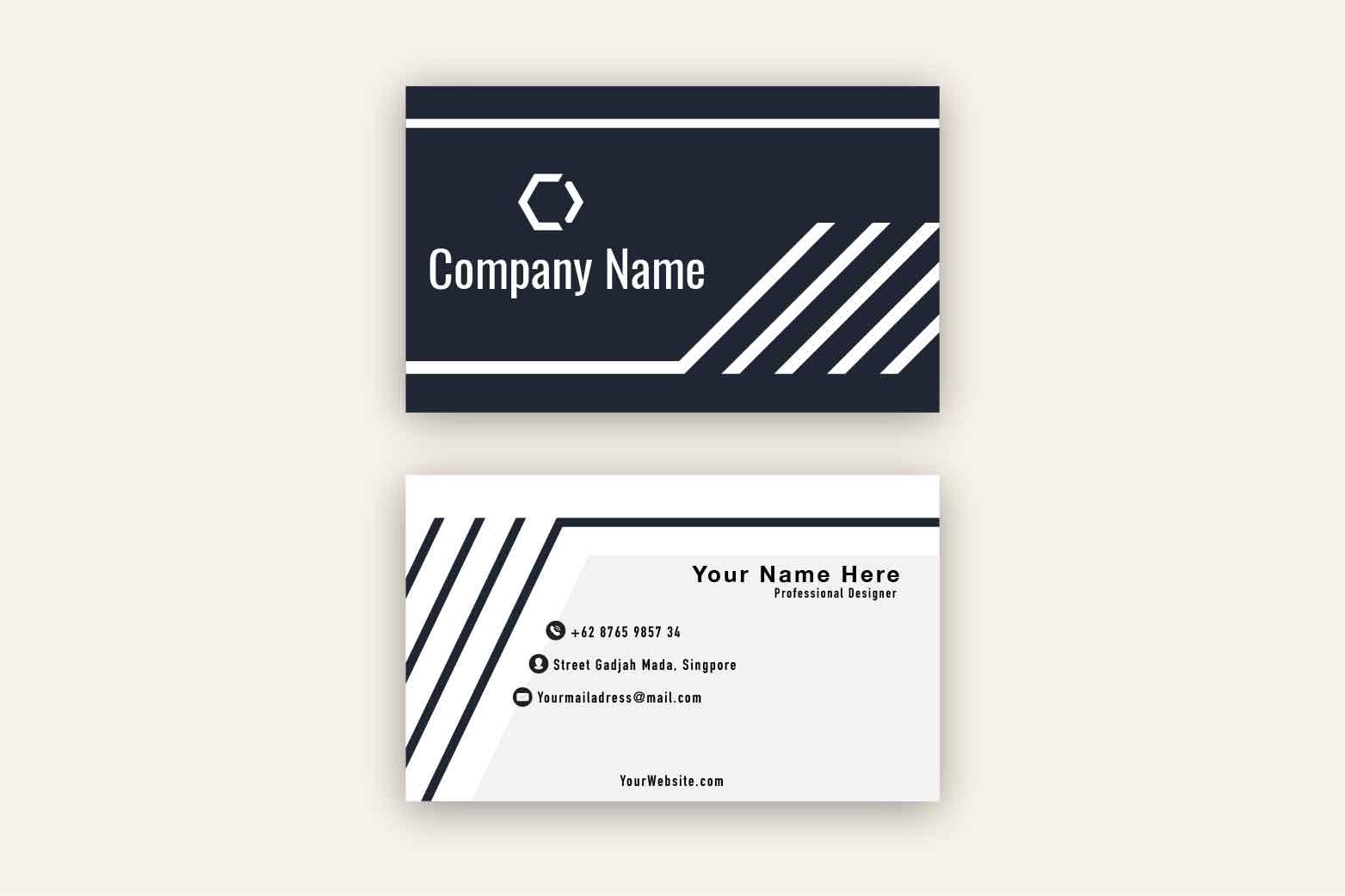 Dark Modern Business Card Template example image 2