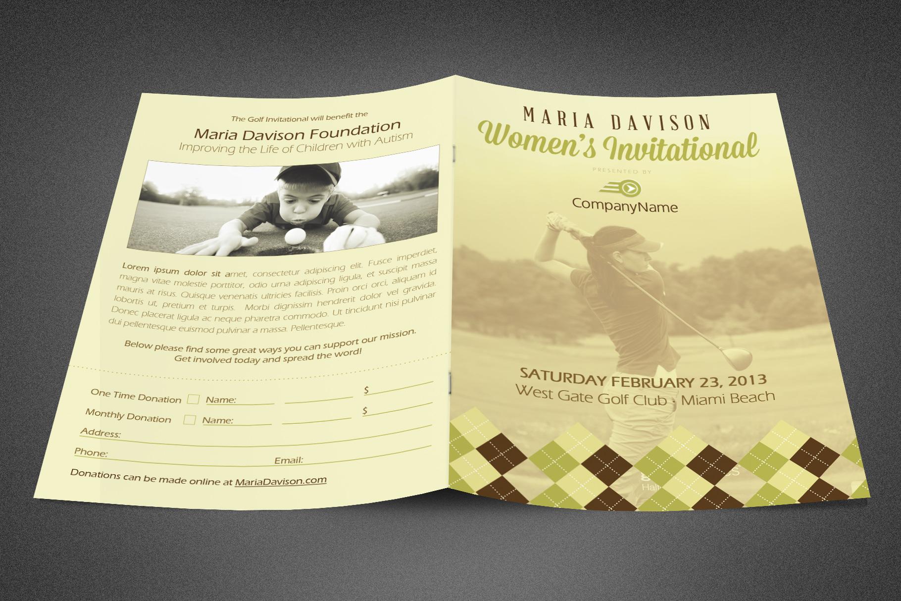 Women's Invitational Booklet example image 2