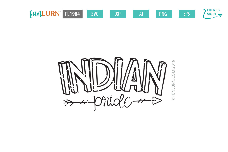 Indian Pride Team SVG Cut File example image 2