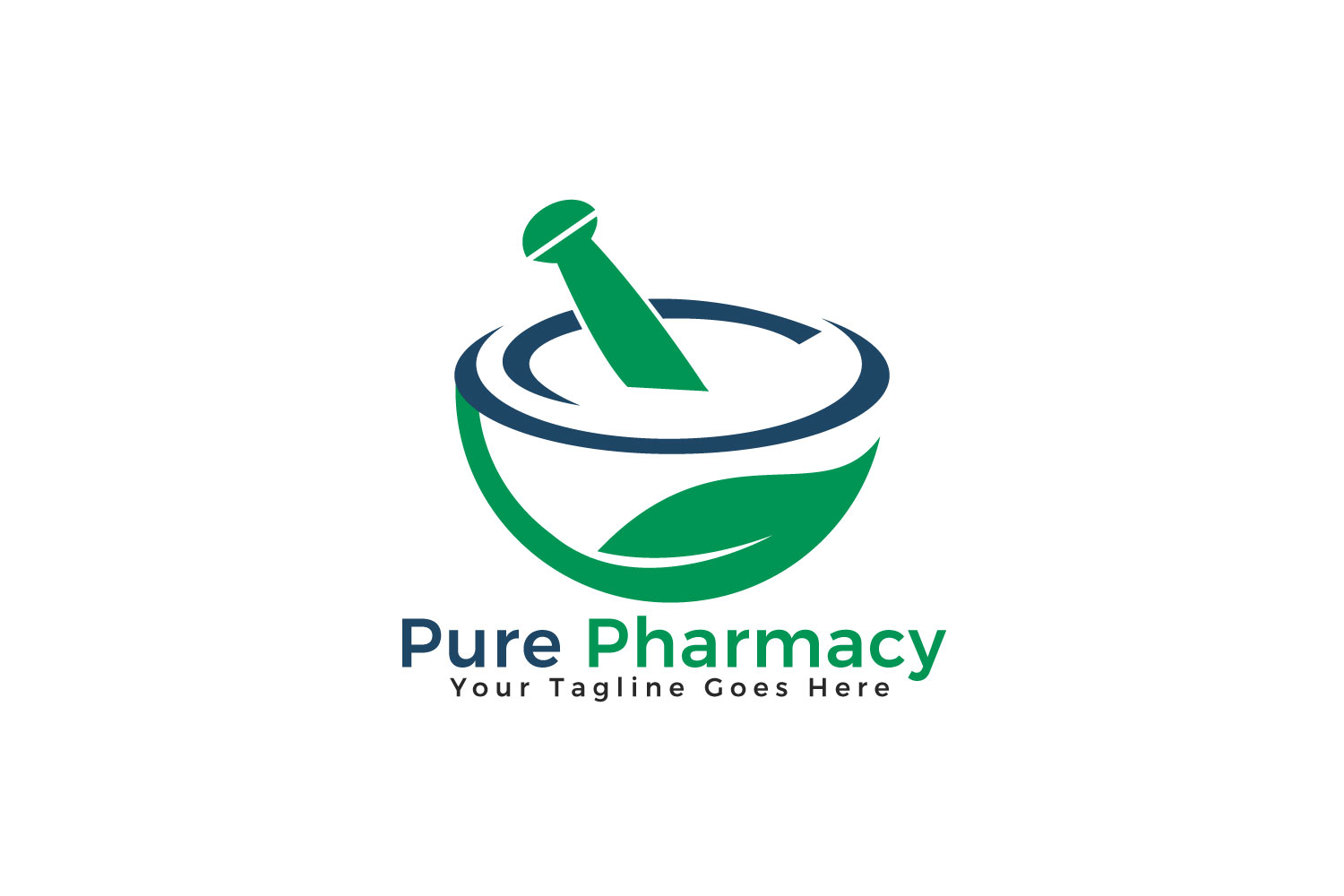 Pure Pharmacy Vector Logo Design. example image 1