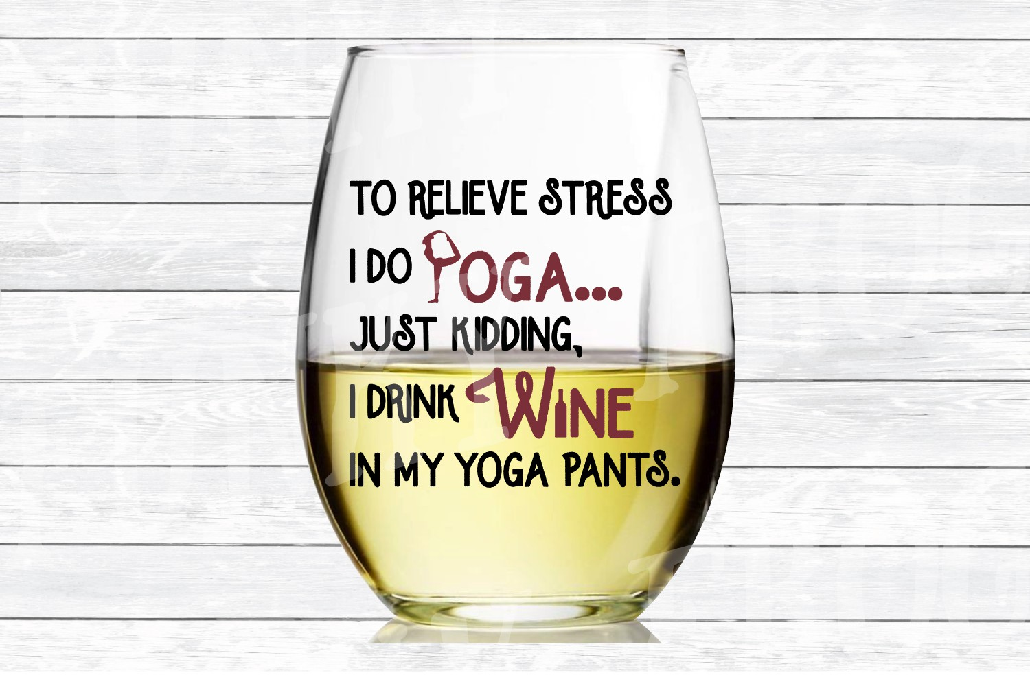 Yoga and Wine Designs - SVG Cut File for Crafters example image 5