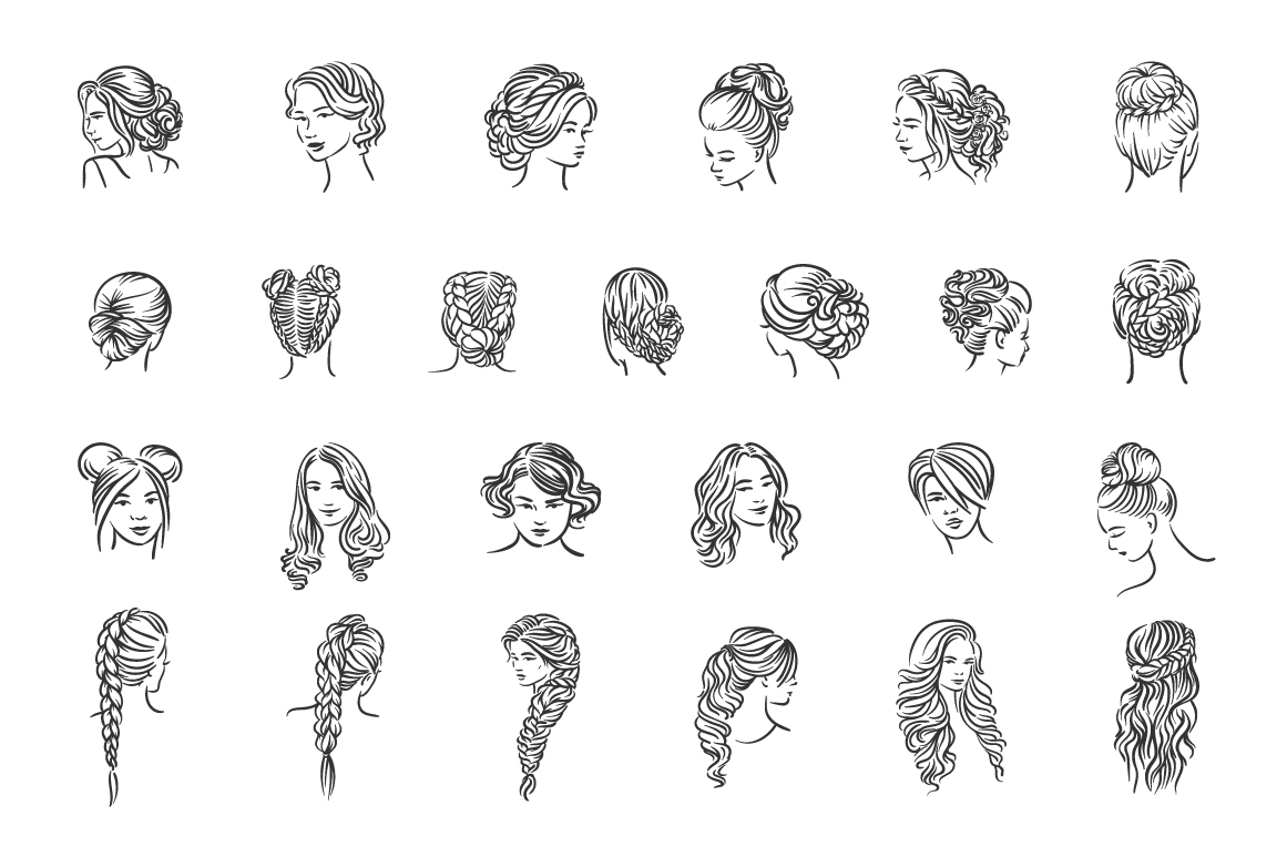 25 Woman hairstyle illustration example image 1