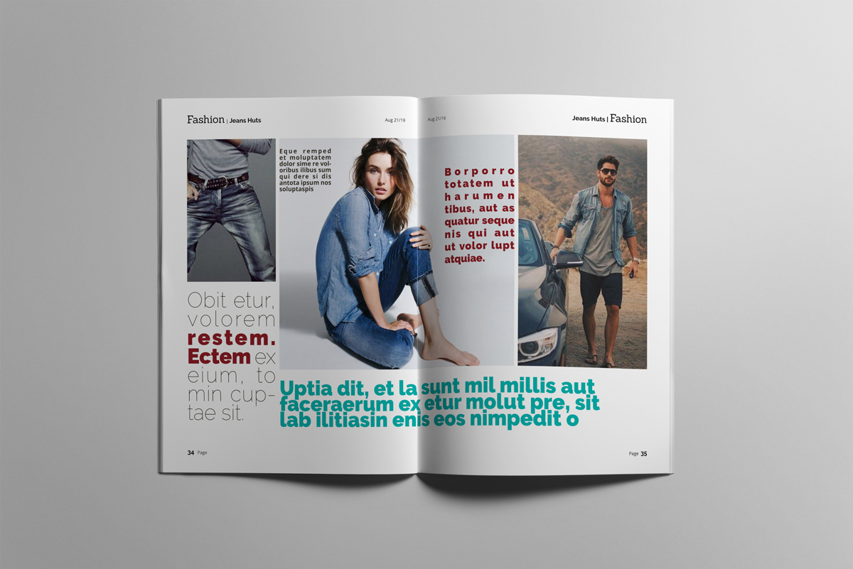 Magazine layout design example image 18