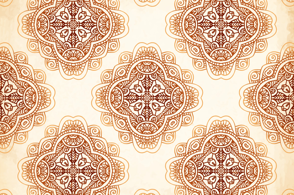 Set of 6 vintage vector backgrounds example image 2