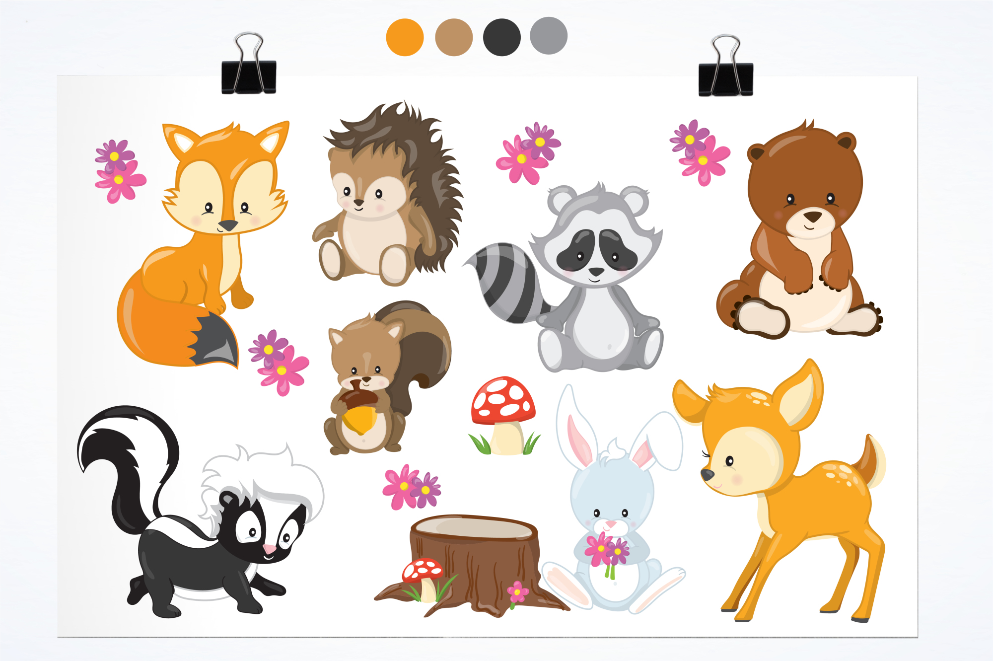 Woodland Animals graphics and illustrations example image 2