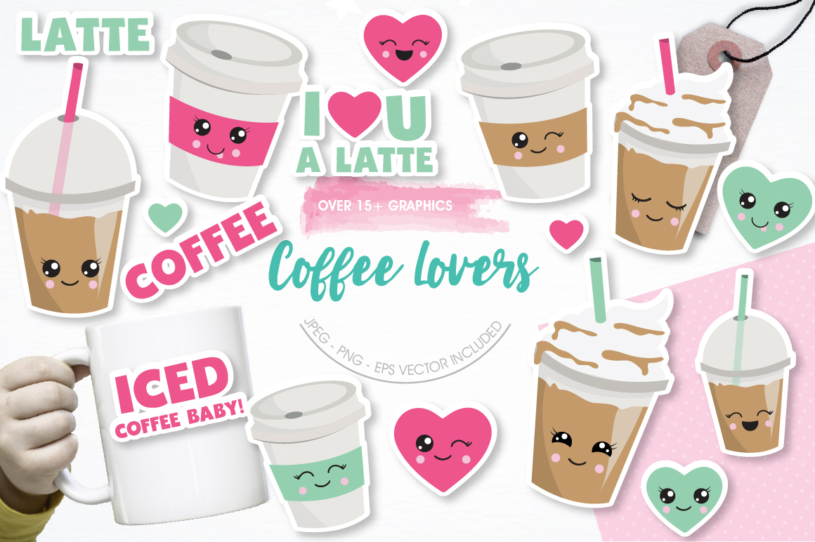 Coffee Lovers graphics and illustrations example image 1