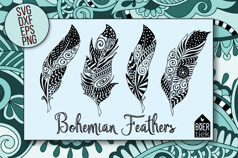 Hand-drawn feathers - Bohemian style, Ibiza style example image 2