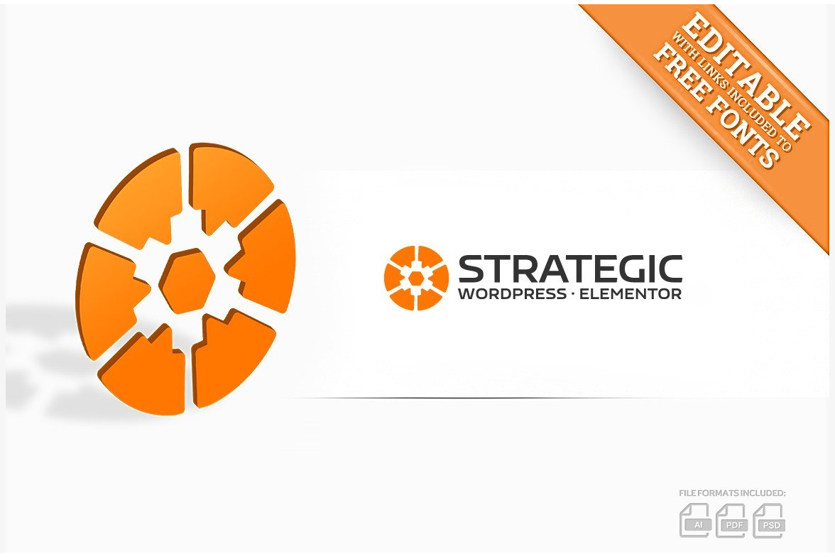 Strategic Gear logo design & business cards & video intro example image 1