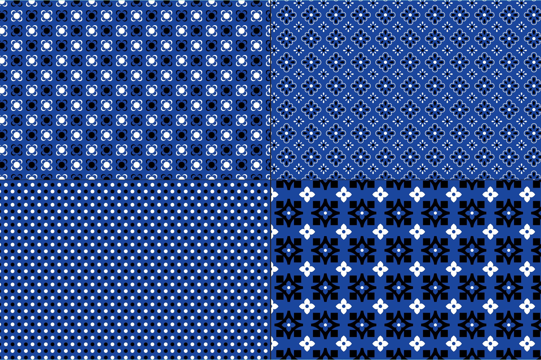 Blue Bandana Patterns example image 3