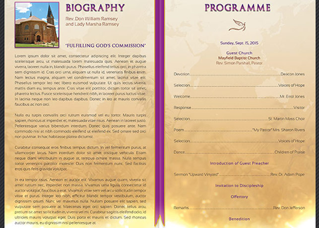 Clergy Anniversary Service Program Template example image 3