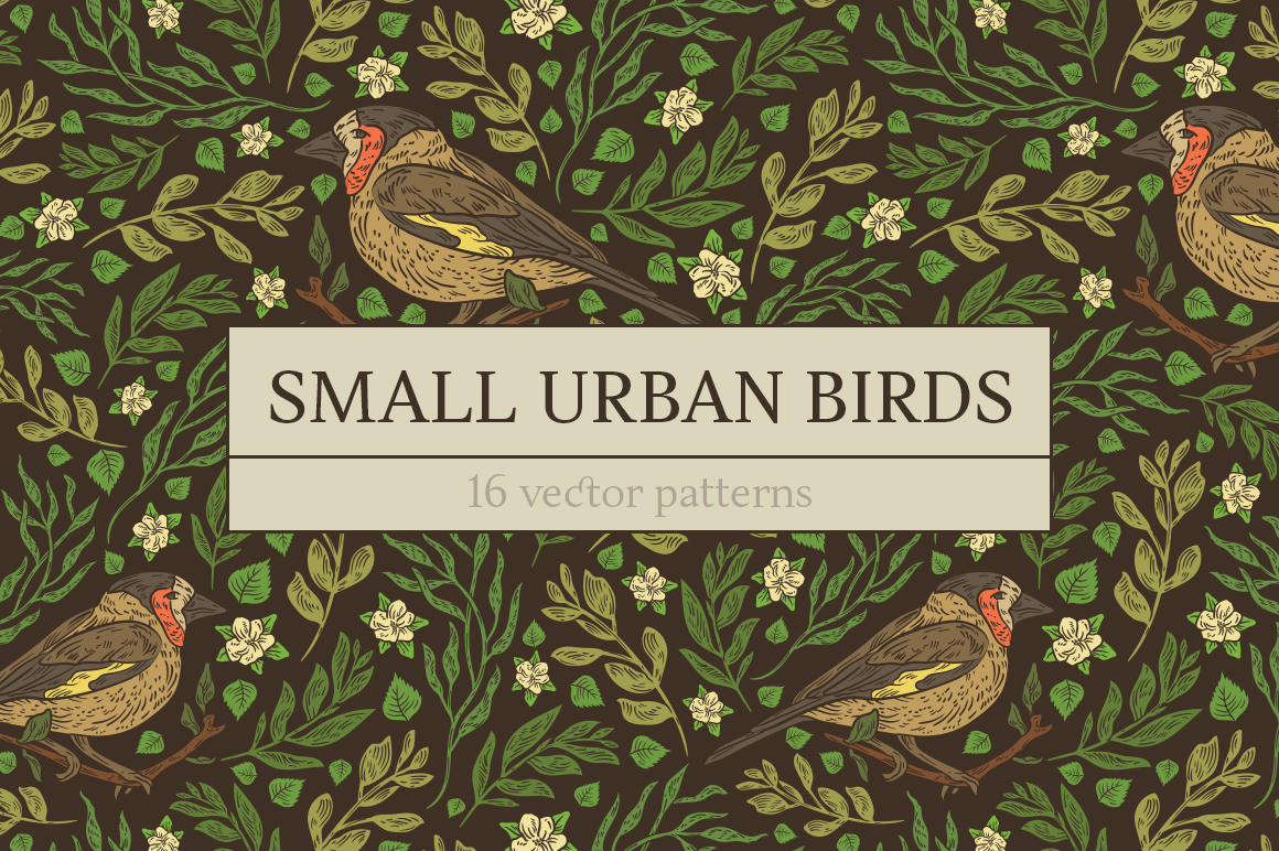 Small Urban Birds patterns example image 11