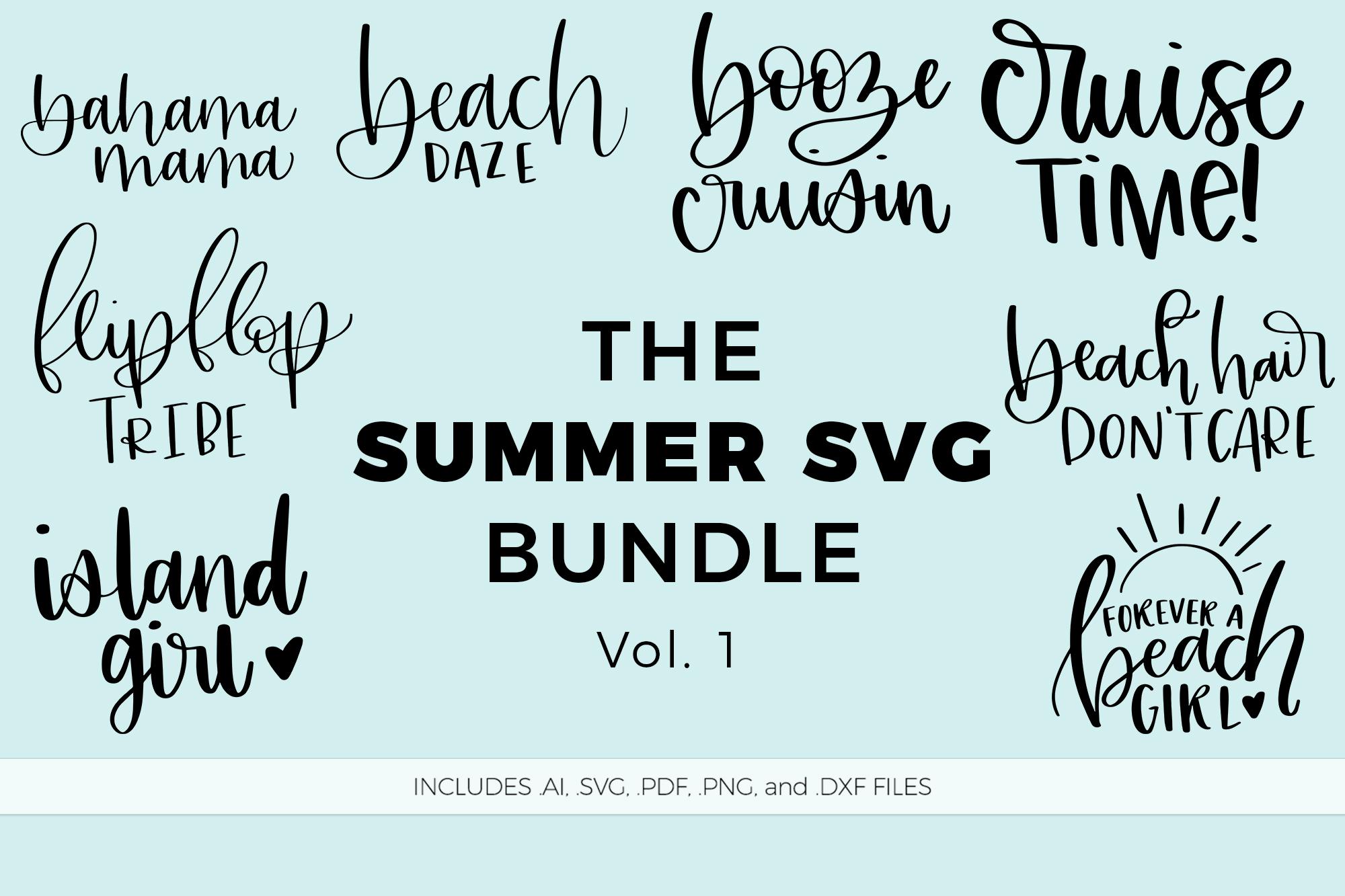 The Summer SVG Bundle, Volume 1 example image 2