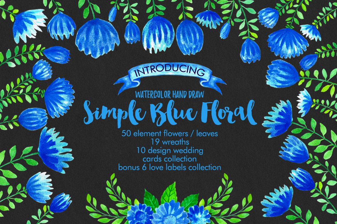 Simple Blue Floral example image 2