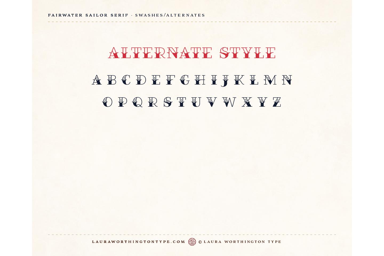 Fairwater Deco Serif example image 10