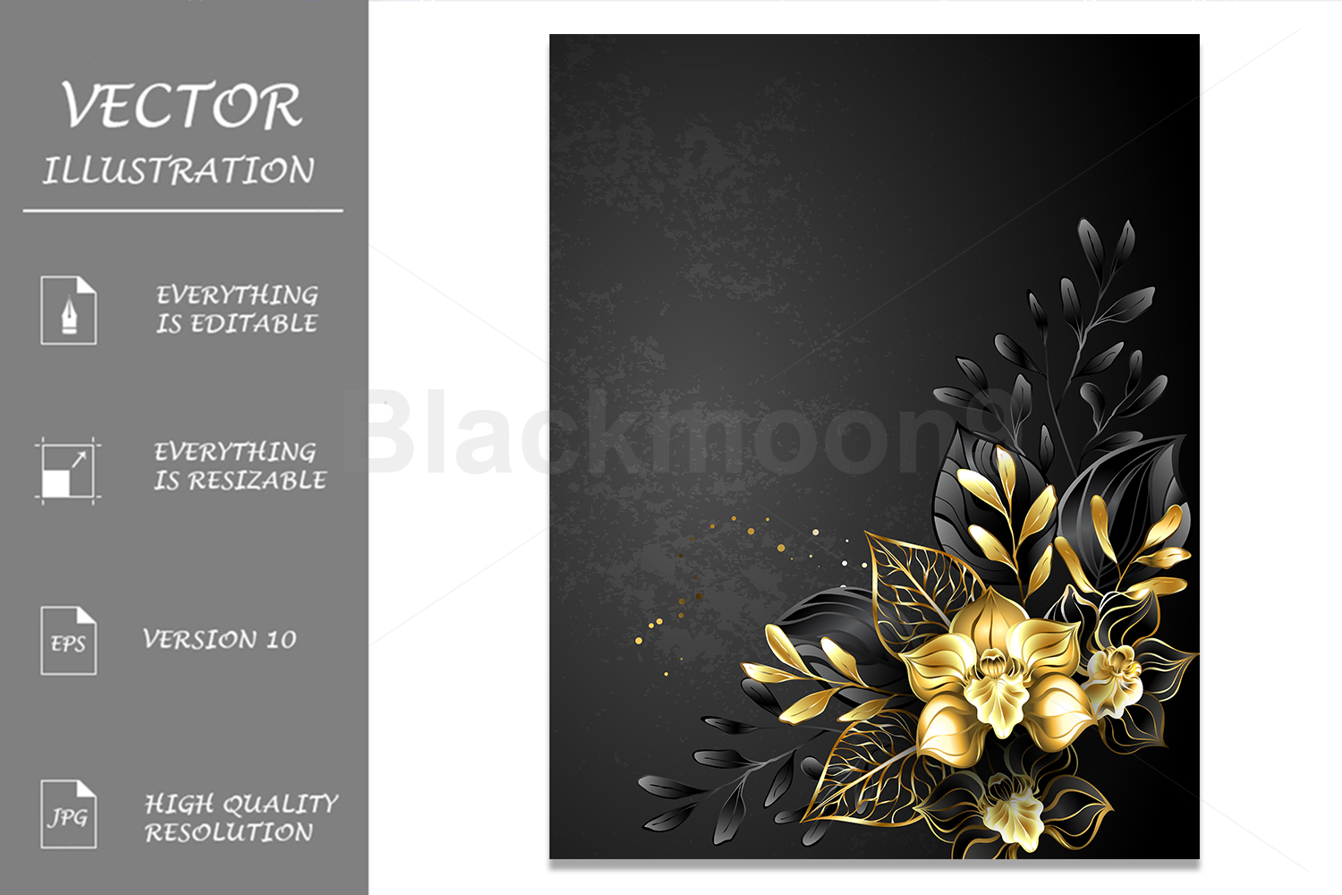 Composition of Black Orchids example image 1