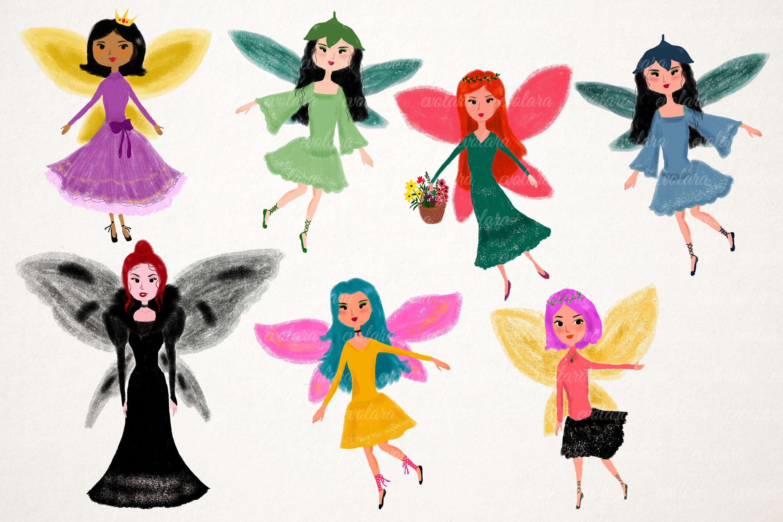 Fairy Clipart Fairies Clipart Cute Fairytale Floral Nursery example image 2