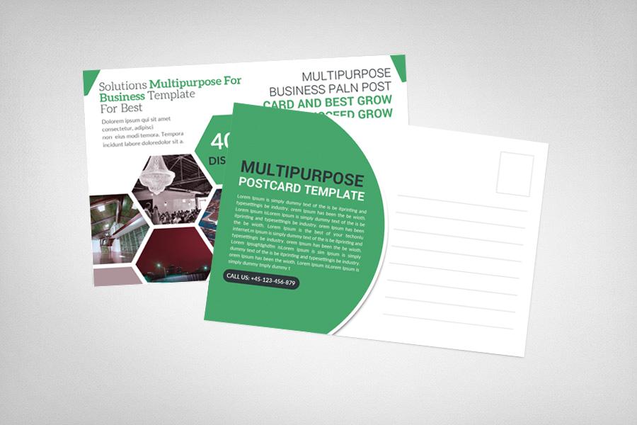 Multipurpose Business Postcard example image 2