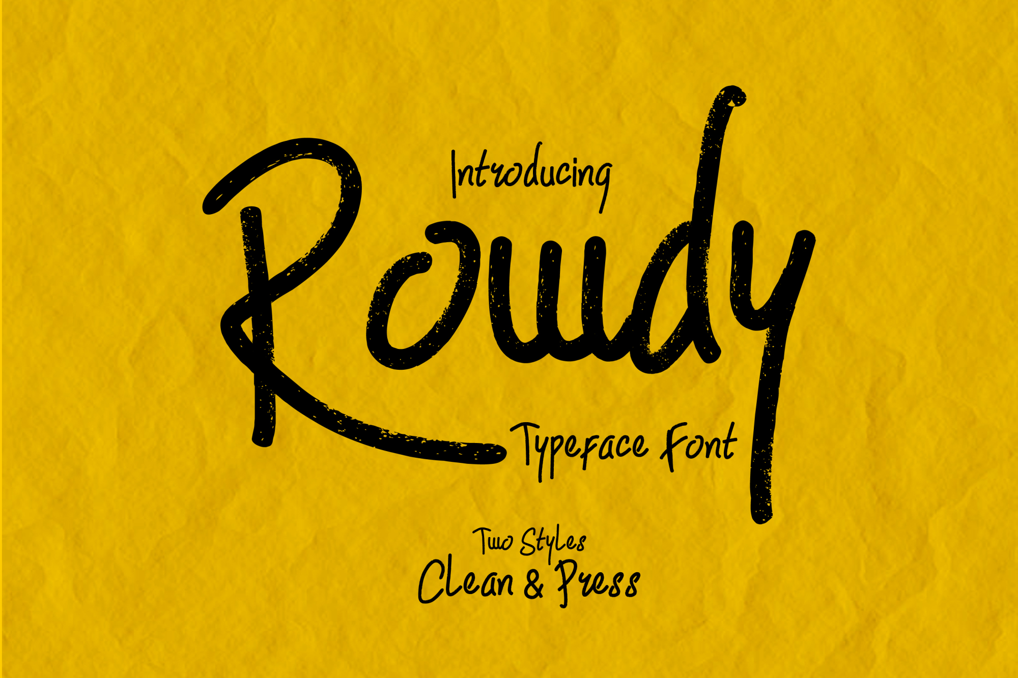 Rowdy Typeface example image 1