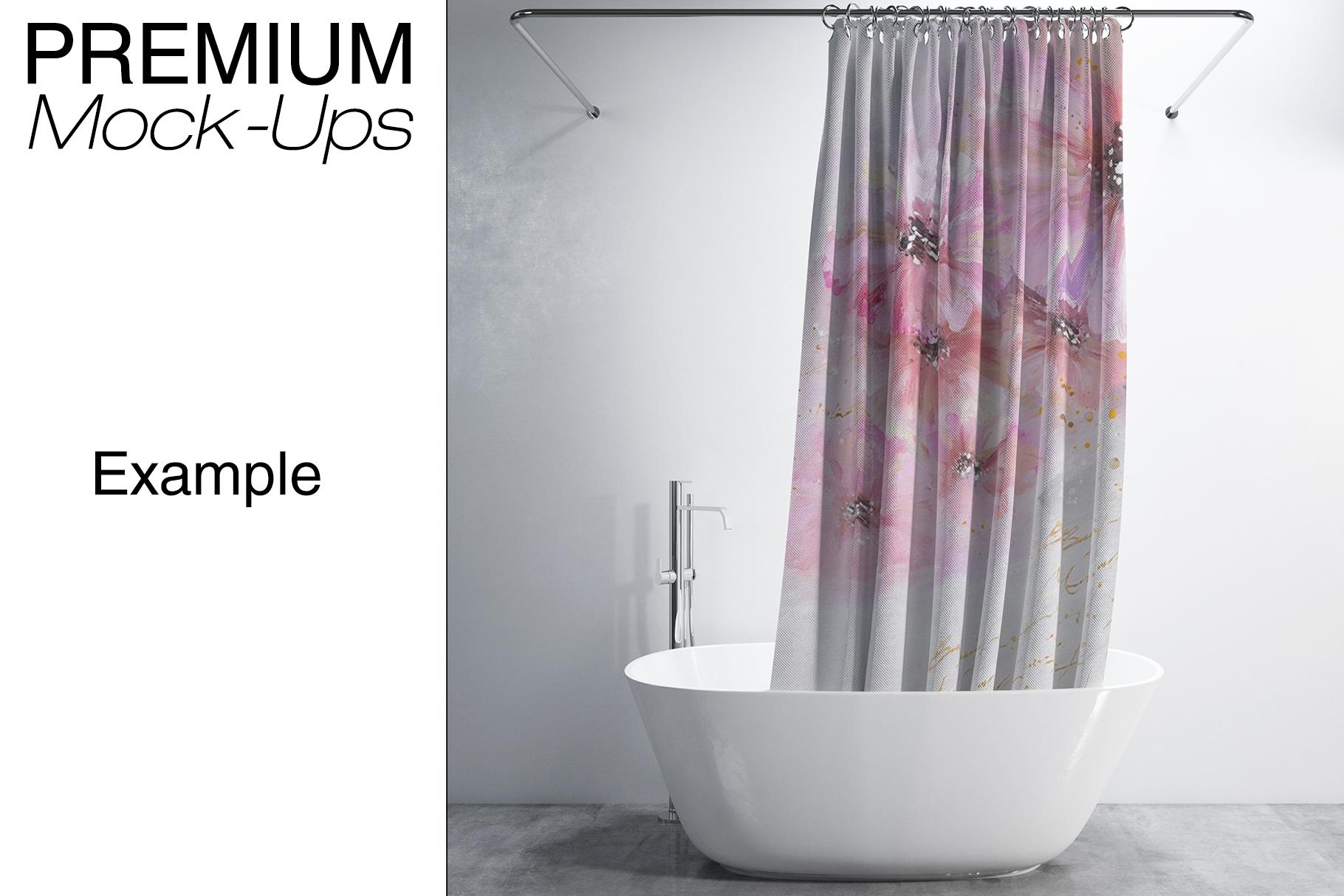 Bath Curtain Mockups example image 14