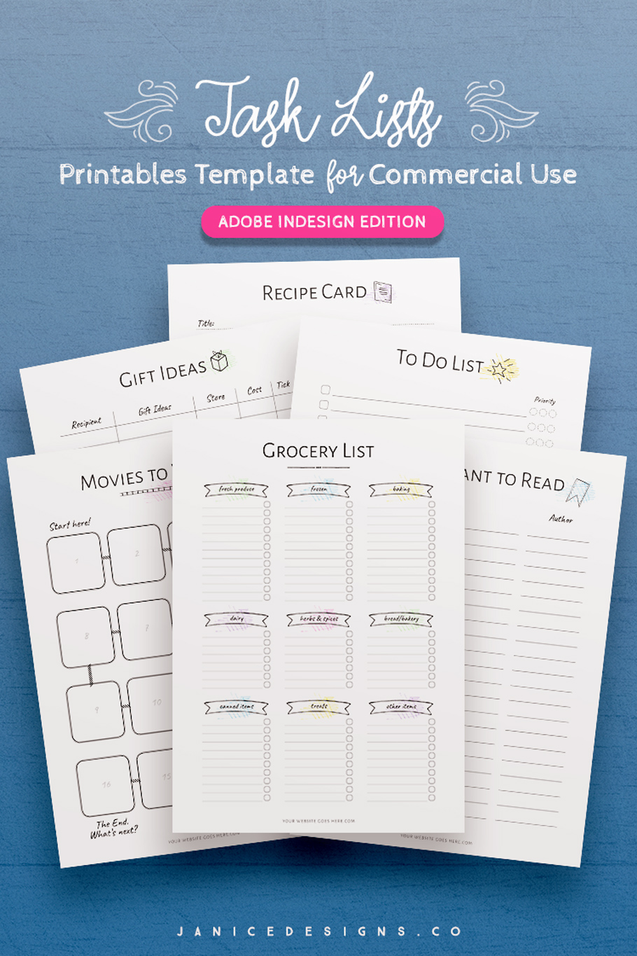 7-in-1 Bundle InDesign Templates for Commercial Use example image 8