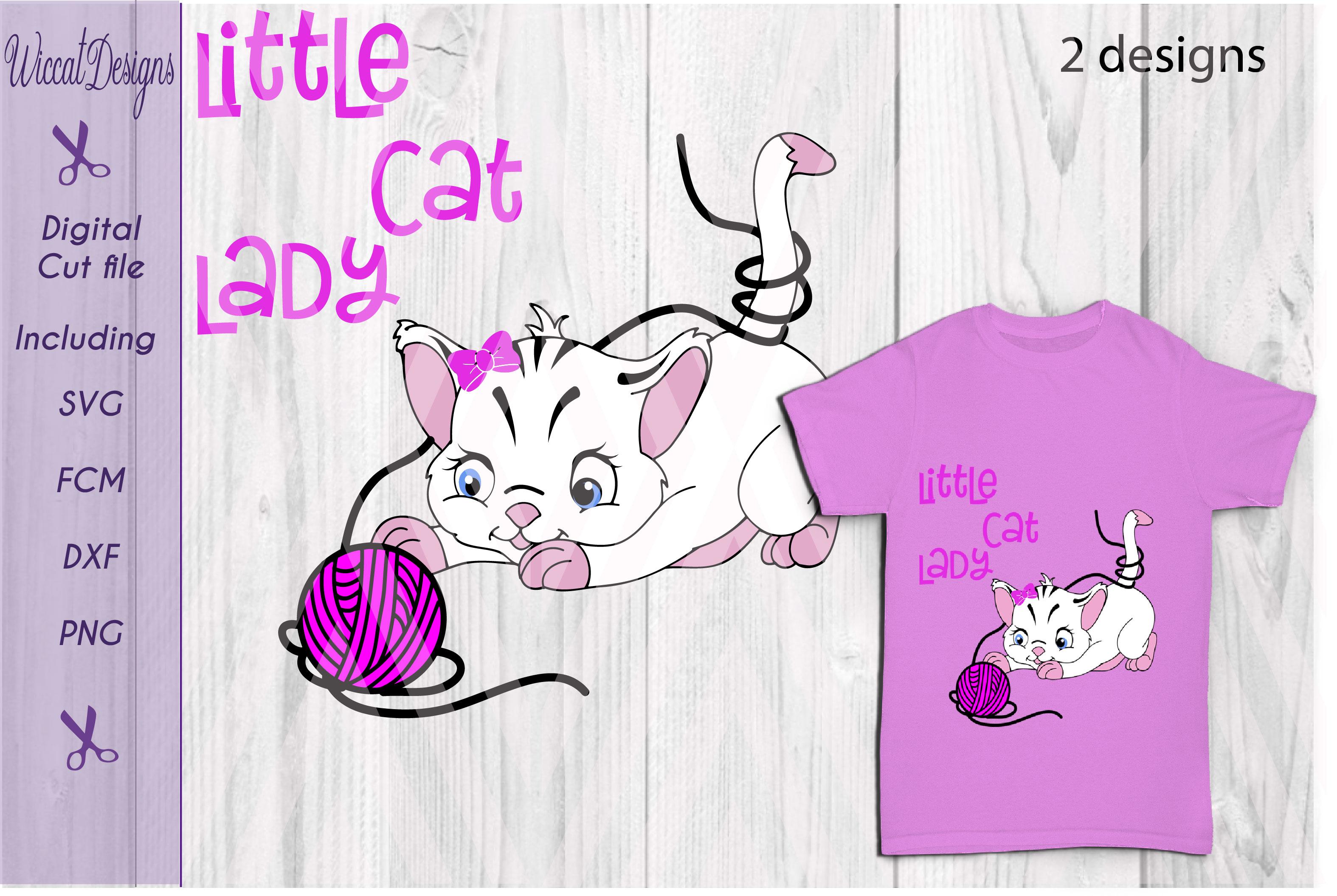 Little Cat Lady svg, digital cut file example image 2
