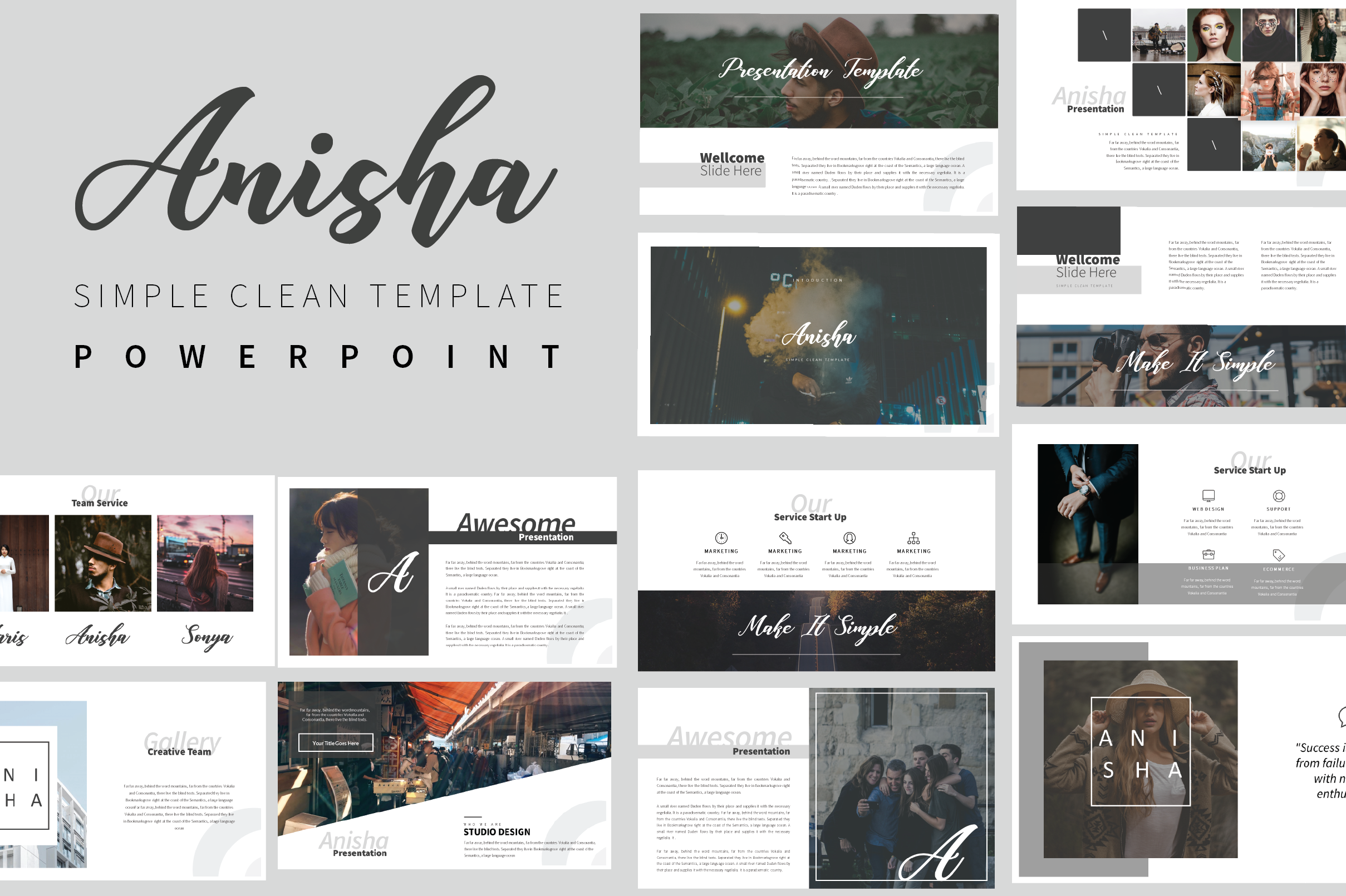 Anisha Simple Clean Template example image 1