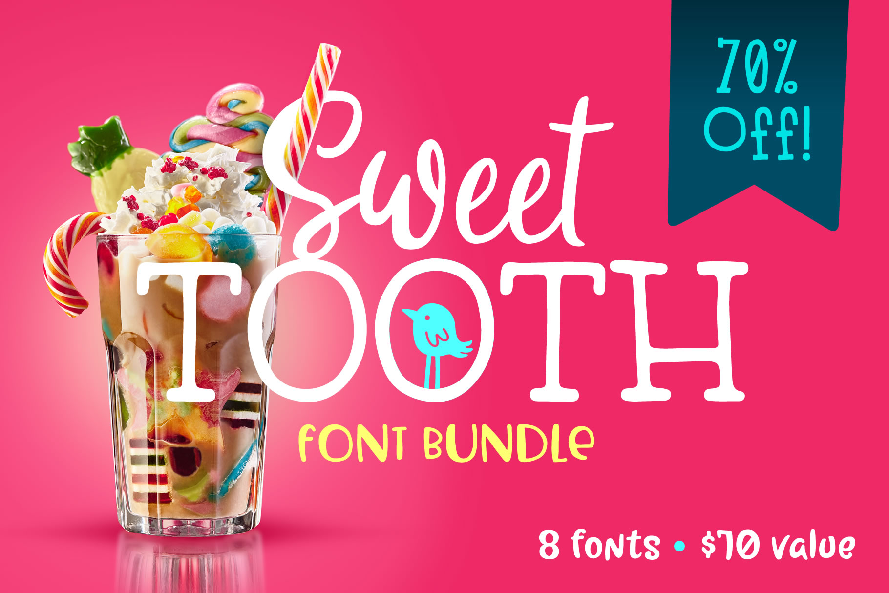 Sweet Tooth Font Bundle example image 1