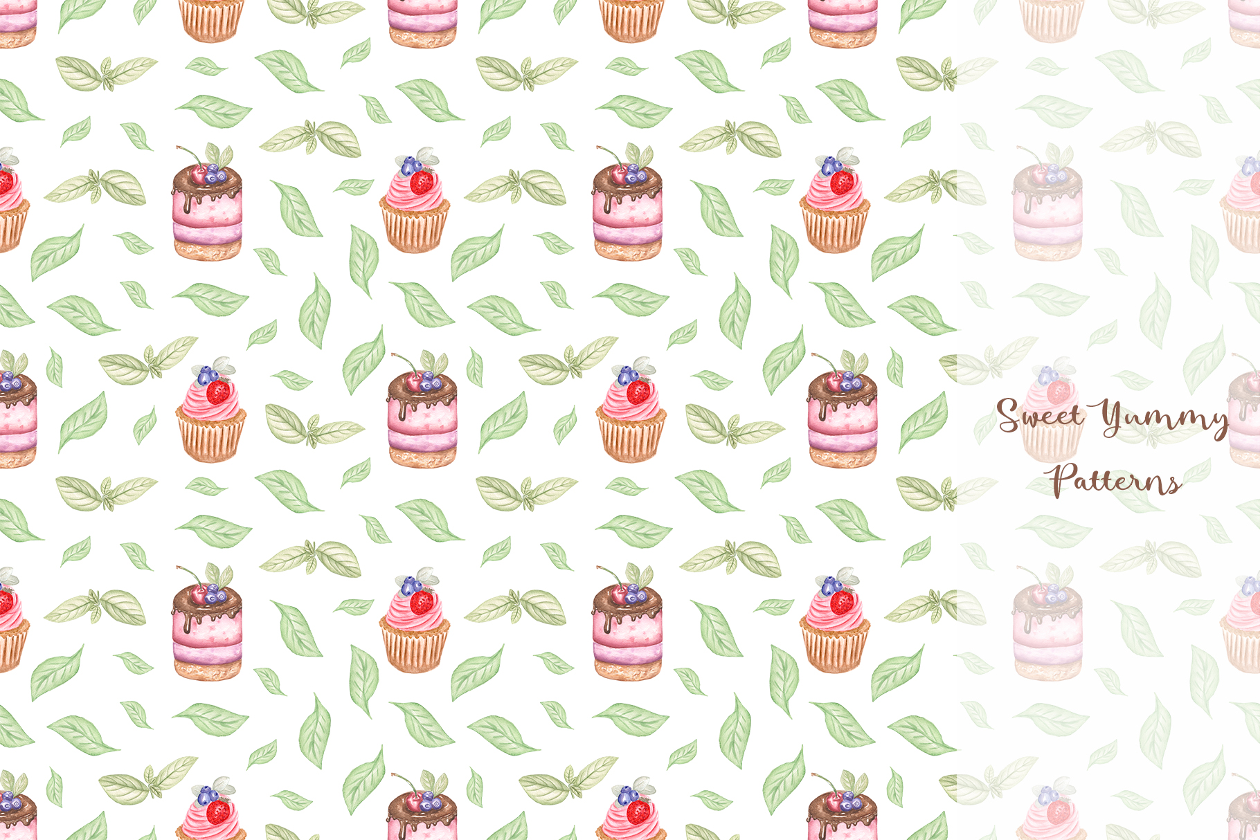 Sweet Yummy Patterns Collection example image 7