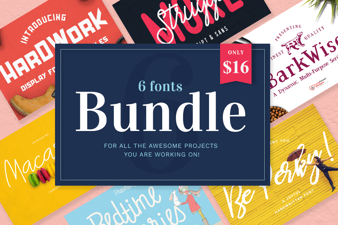 Font Bundle / 6 Fonts example image 1