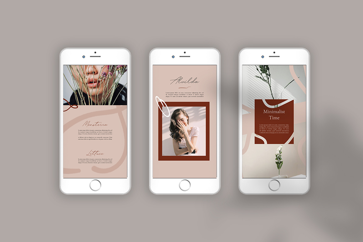 Neutral Instastories Templates example image 7