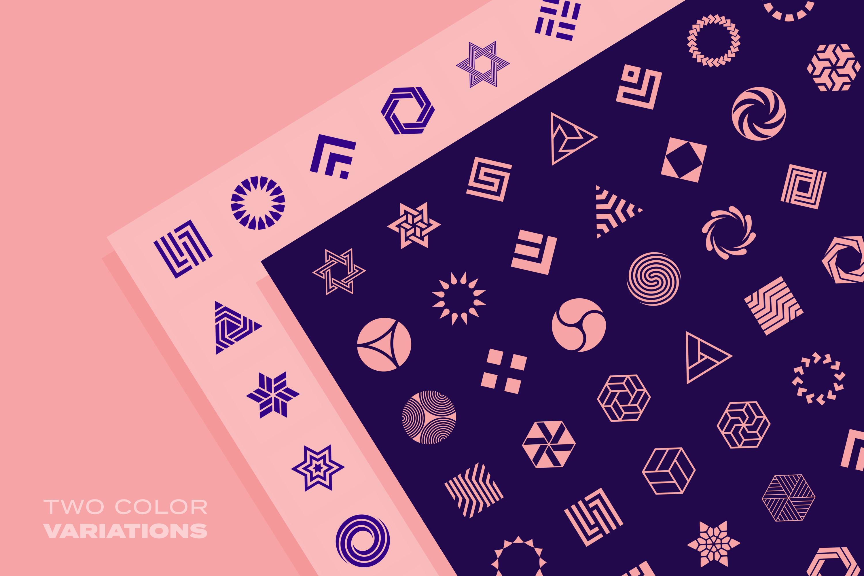 96 Geometric shapes & logo marks collection VOL.1 example image 20